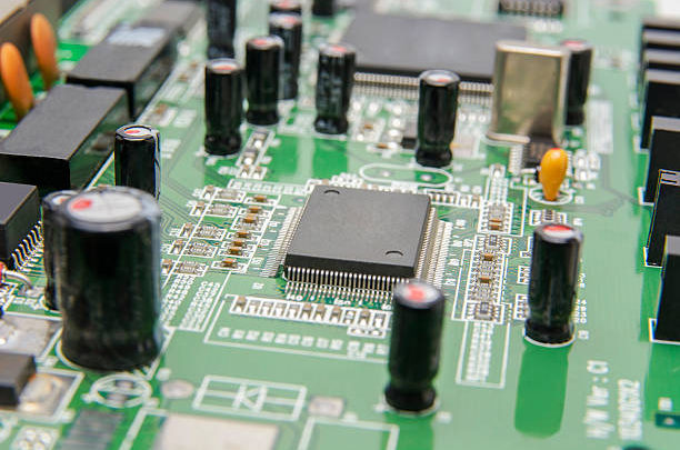 The computer chip on circuit Board